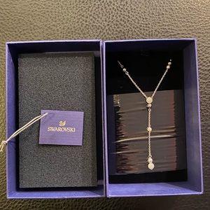 Swavaraki crystal drop necklace
